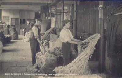 Copyright of Macclesfield Museums Receiving Raw Silk, Hurdsfield Mill